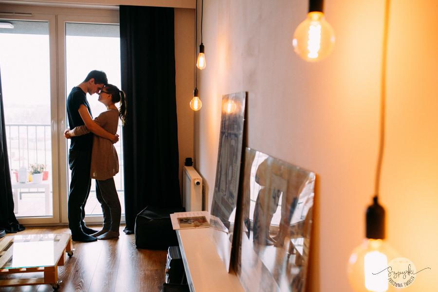 sesja randkowa w mieszkaniu kraków