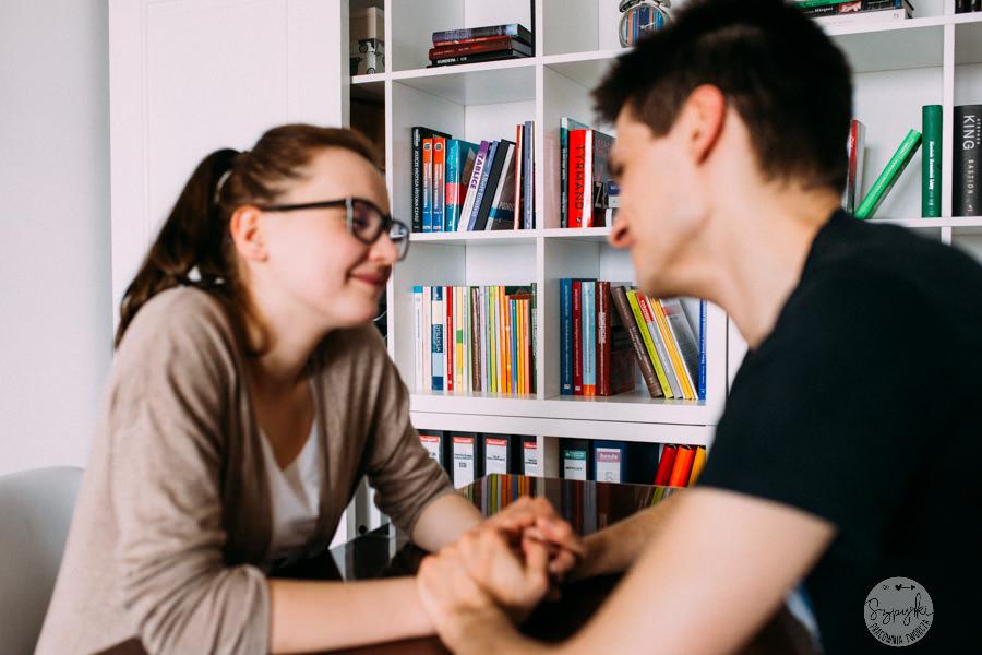 sesja randkowa w domu