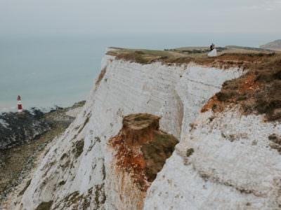 Plener ślubny w Anglii - Asia & Sam i Seven Sisters Cliffs
