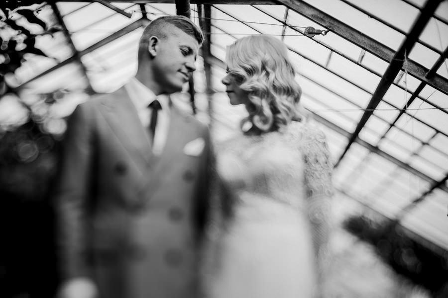 sejsa ślubna w starej szklarni
