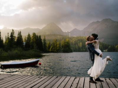 Plener Ślubny nad Szczyrbskim Jeziorem