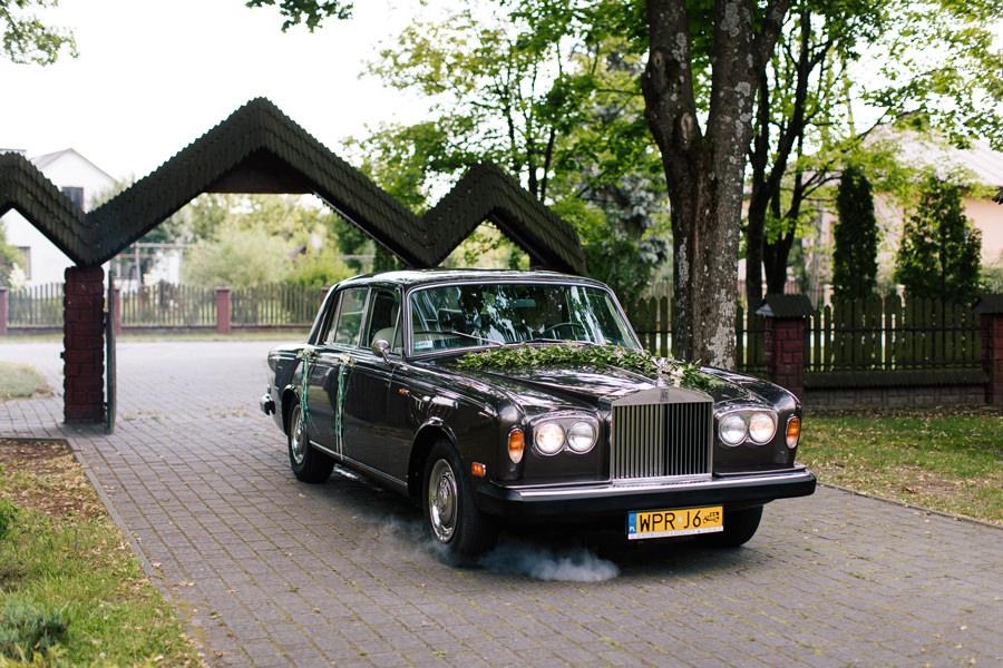 rolls royce klasyczny samochód do ślubu