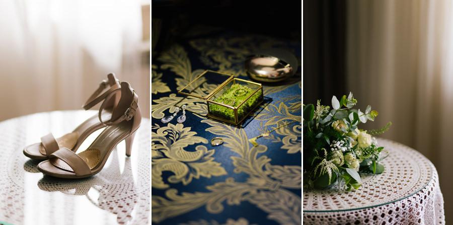 dodatki panny młodej, buty do ślubu, bukiet ślubny, obrączki