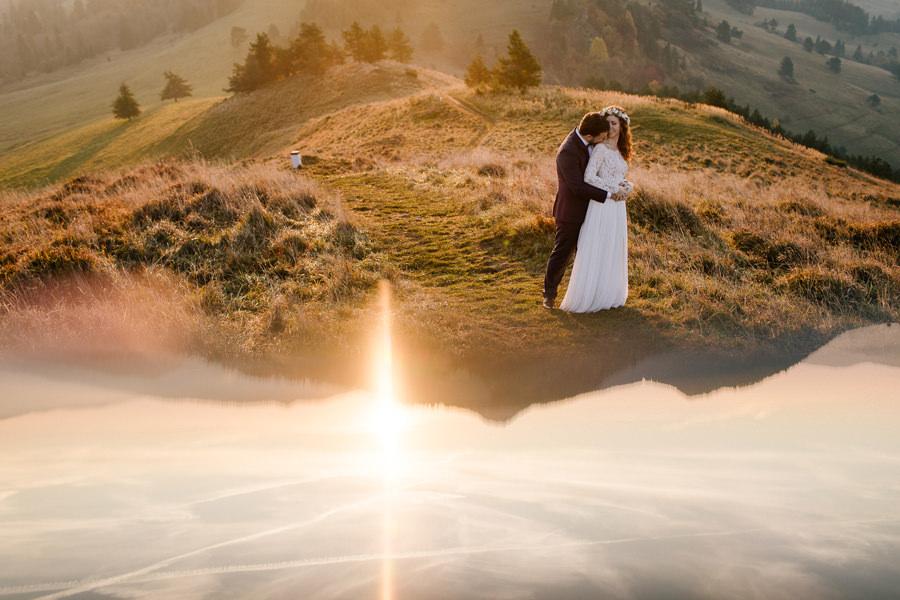 fotograf ślubny Pieniny, fotograf Pieniny, para młoda w Pieninach