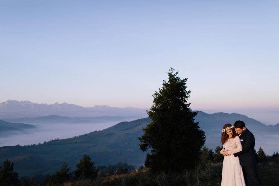 para młoda w Tatrach, sesja plenerowa w Tatrach, fotograf ślubny Nowy Targ