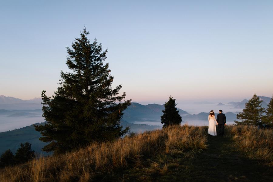 para młoda w górach, sesja poślubna w górach, sesja plenerowa w Tatrach